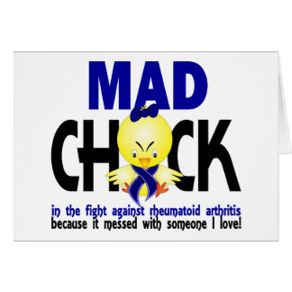 Mad Chick In The Fight Rheumatoid Arthritis Greeting Card