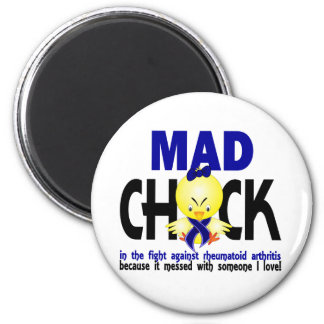 Mad Chick In The Fight Rheumatoid Arthritis 2 Inch Round Magnet