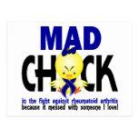 Mad Chick In The Fight Rheumatoid Arthritis Postcard
