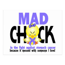 Mad Chick In The Fight Stomach Cancer Postcard