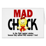 Mad Chick In The Fight Stroke Greeting Card