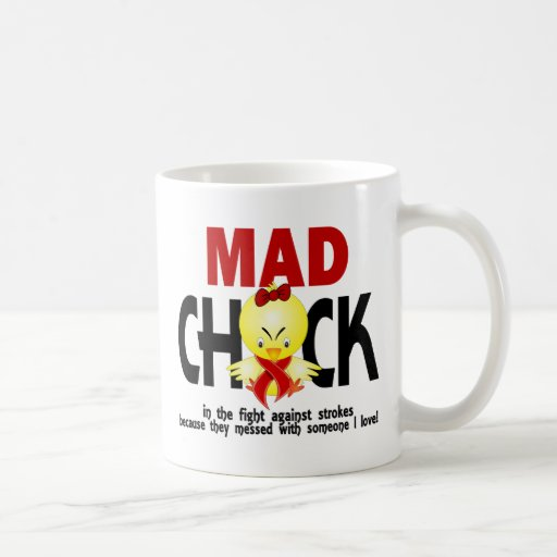 Mad Chick In The Fight Stroke Classic White Coffee Mug