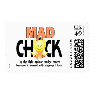Mad Chick In The Fight Uterine Cancer Postage Stamp