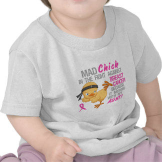 Mad Chick Messed With Aunt 3 Breast Cancer T Shirt