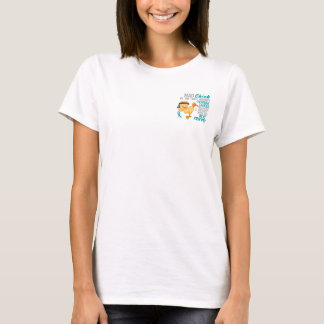 Mad Chick Messed With Best Friend 3 Ovarian Cancer T-Shirt