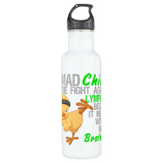 Mad Chick Messed With Brother 3 Lymphoma Stainless Steel Water Bottle