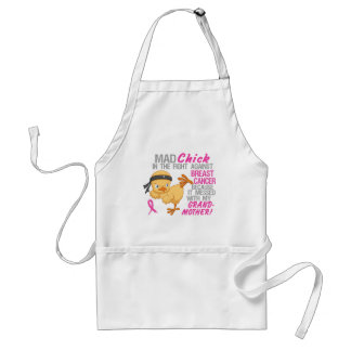 Mad Chick Messed With Grandmother 3 Breast Cancer Apron