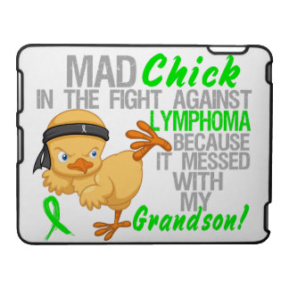Mad Chick Messed With Grandson 3 Lymphoma iPad Case