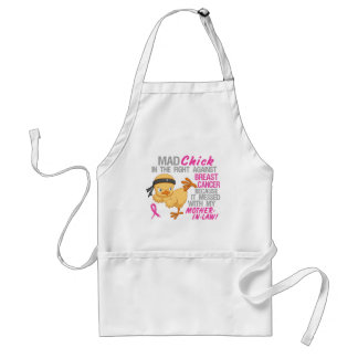 Mad Chick Messed With Mother-In-Law 3 Breast Cance Aprons