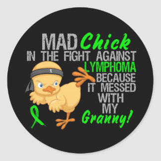 Mad Chick Messed With My Granny 3 Lymphoma Classic Round Sticker