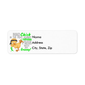 Mad Chick Messed With My Granny 3 Lymphoma Label