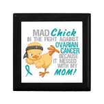 Mad Chick Messed With My Mom 3 Ovarian Cancer Gift Boxes