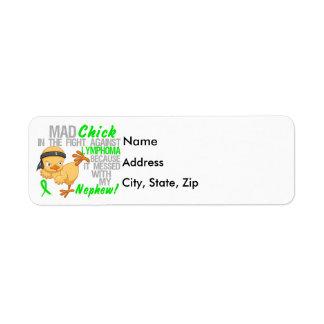 Mad Chick Messed With My Nephew 3 Lymphoma Return Address Label