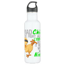 Mad Chick Messed With My Niece 3 Lymphoma Stainless Steel Water Bottle