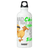 Mad Chick Messed With My Sister 3 Lymphoma Aluminum Water Bottle