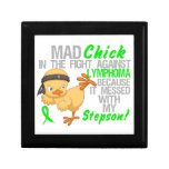 Mad Chick Messed With My Stepson 3 Lymphoma Keepsake Boxes