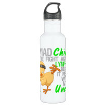 Mad Chick Messed With My Uncle 3 Lymphoma Stainless Steel Water Bottle