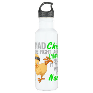 Mad Chick Messed With Nana 3 Lymphoma Stainless Steel Water Bottle