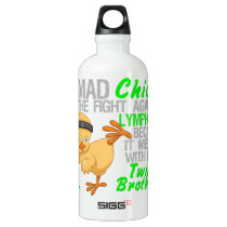 Mad Chick Messed With Twin Brother 3 Lymphoma Aluminum Water Bottle