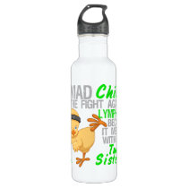 Mad Chick Messed With Twin Sister 3 Lymphoma Stainless Steel Water Bottle