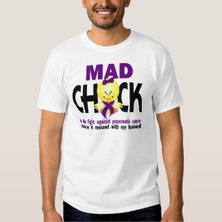 Mad Chick Pancreatic Cancer Husband Tee Shirt