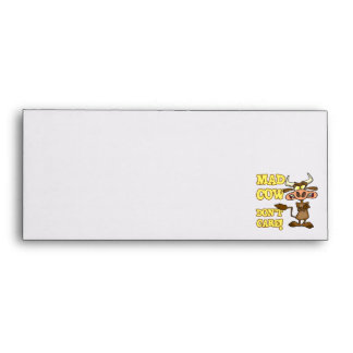 MAD COW DONT CARE FUNNY ANIMAL HUMOR ENVELOPE
