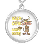 MAD COW DONT CARE FUNNY ANIMAL HUMOR PENDANT