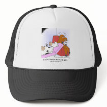 Mad Cow In Therapy Funny Gifts & Collectibles Trucker Hat