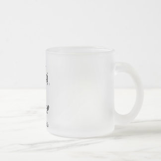 Mad Cow Tshirts and Gifts Frosted Glass Coffee Mug