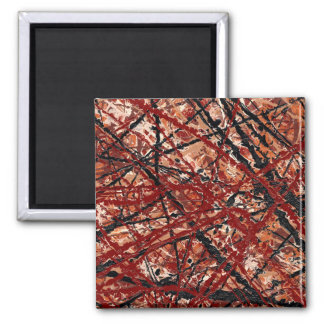MAD DASH (an abstract art design) ~ 2 Inch Square Magnet