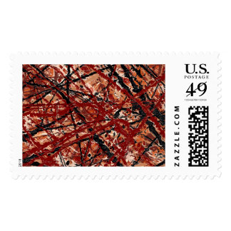 MAD DASH (an abstract art design) ~.jpg Postage