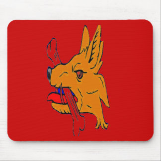MAD DOG AND BONE MOUSE PAD