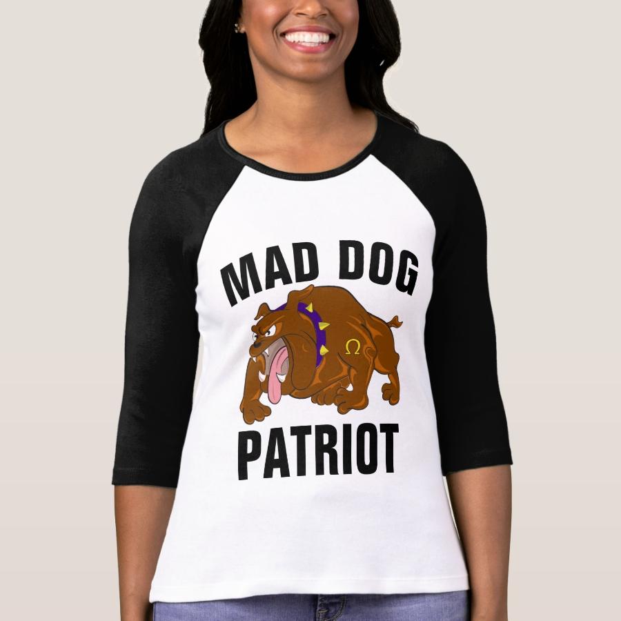 MAD DOG PATRIOT T-Shirts - Best Selling Long-Sleeve Street Fashion Shirt Designs