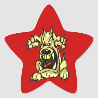 Mad Dog Star Sticker
