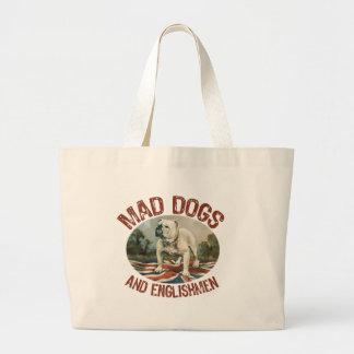 Mad Dogs & Englishmen Large Tote Bag
