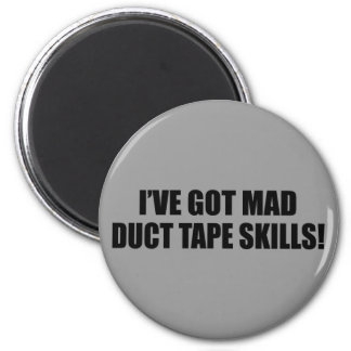 Mad duct tape skills 2 inch round magnet