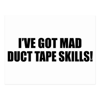 Mad duct tape skills postcard