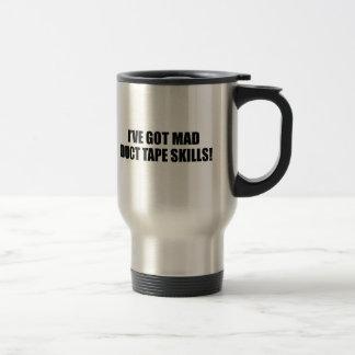 Mad duct tape skills travel mug
