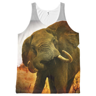 Mad Elephant All-Over-Print Tank Top