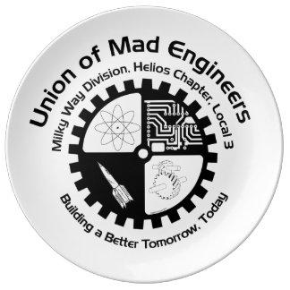 Mad Engineer Porcelain Plate