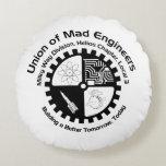 Mad Engineer Round Pillow