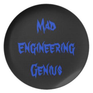 Mad Engineering Genius Geeky Geek Nerd Gifts 2a Melamine Plate