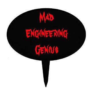 Mad Engineering Genius Geeky Geek Nerd Gifts Cake Picks