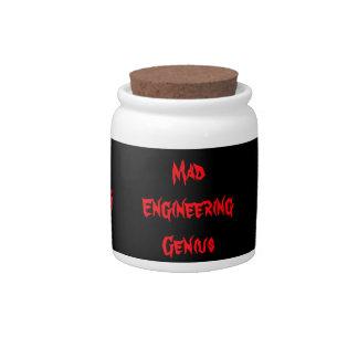 Mad Engineering Genius Geeky Geek Nerd Gifts Candy Jars