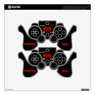 Mad Engineering Genius Geeky Geek Nerd Gifts Decal For PS3 Controller