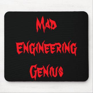 Mad Engineering Genius Geeky Geek Nerd Gifts Mouse Pad
