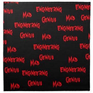 Mad Engineering Genius Geeky Geek Nerd Gifts Napkins