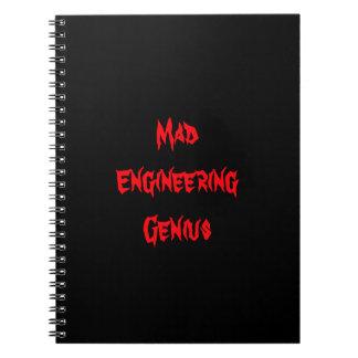 Mad Engineering Genius Geeky Geek Nerd Gifts Notebooks