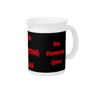 Mad Engineering Genius Geeky Geek Nerd Gifts Beverage Pitcher