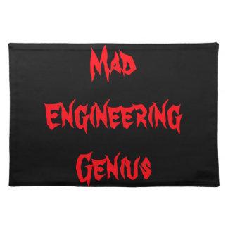 Mad Engineering Genius Geeky Geek Nerd Gifts Placemat